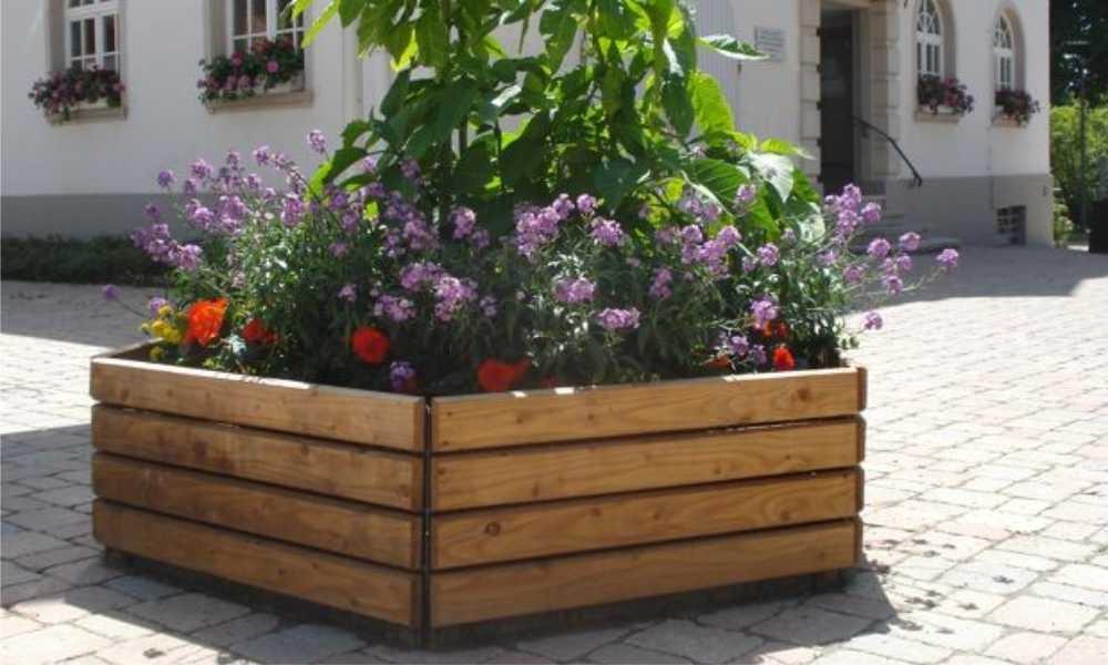 PLANTENER ® Holzkübel sechseckig